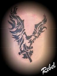 eagle cross tattoos