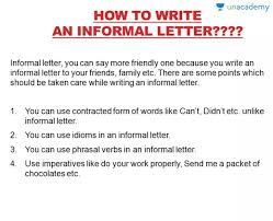 letter writing rules for formal and informal letters in hindi