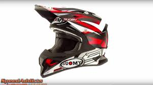 suomy motocross helmet suomy alpha bike red helmet at speedaddicts com youtube