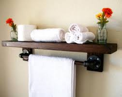 Bathroom Shelves With Towel Rack Floating Shelves Towel Rack Floating Shelf Wall Shelf Wood