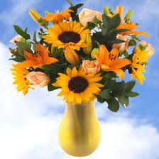 Vase Of Sunflowers Fresh Bouquet Flowers In Vase Roses Sunflowers Lilies Global Rose
