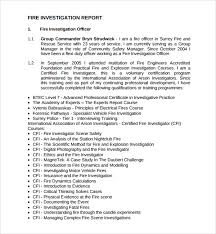 investigation report template sle investigation report template 13 free documents in pdf word