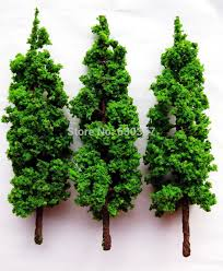 g17055 layout set model trees scale g o 17cm in figurines
