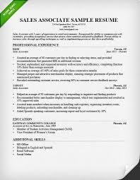 Create Resume Samples by Sales Associate Resume Examples Berathen Com
