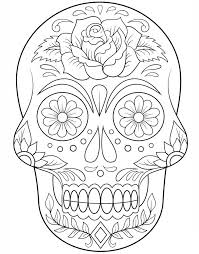 dead flower coloring page 8 best artesania images on pinterest skull day of dead and