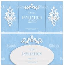 3d Invitation Cards Vector Blue Floral 3d Background Template Christmas Or Invitation