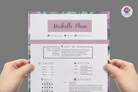 Resume Sample Nigeria by Floral Cv Template Design Resume Templates On Thehungryjpeg Com
