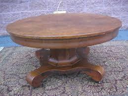 Pedestal Coffee Table Round Antique Empire Style Round Oak Pedestal Coffee Table 40