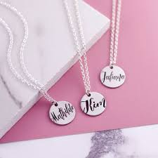 Engraved Name Necklace Name Necklaces