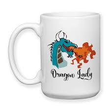 coffee mug dragon lady dragon fire dragon design fire
