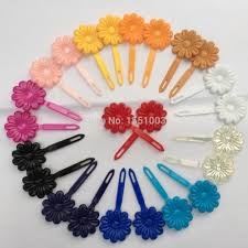 barrettes for hair online shop 8pairs pk plastic sunflower barrettes hair solid