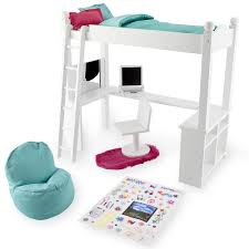 Loft Beds With Desk For Girls White Varnished Twin Loft Bed With L Shaped Desk Underneath Also