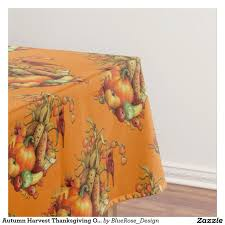 autumn harvest thanksgiving orange tablecloth customize with
