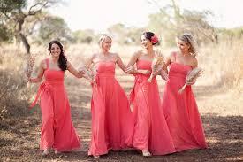 bridesmaid dresses coral coral colored bridesmaid dresses all dresses