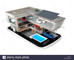 smart house on a smart phone the smart house equippd with solar