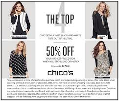 chico clothing chicos coupons printable coupons in store retail grocery