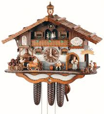cuckoo clock 8 day movement chalet style 44cm by anton schneider