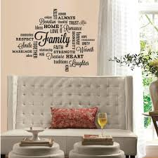 wallpaper and wall borders walmart com family quote peel and stick wall decals