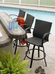 Outdoor Bar Height Swivel Chairs Outdoor Bar Chairs With Backs Outdoorlivingdecor