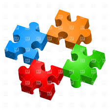 missing piece colorful jigsaw puzzles vector clipart image 7191