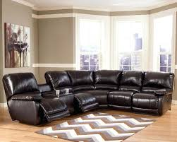 Tufted Sectional With Chaise 4087 Modern Bonded Leather Sectional Sofa With Recliners Couch