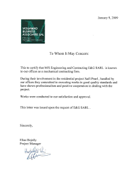 Ndu Attestation Letter recommendations e g engineering and contracting