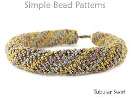 simple beads bracelet images Spiral bracelet tutorial with seed beads beading pattern jpg