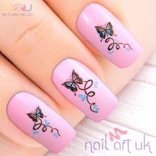 butterfly water decal nail stickers nail art uk