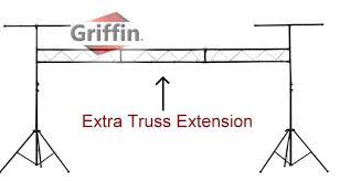 dj lighting truss package dj light truss stand system by griffin stage trussing lighting