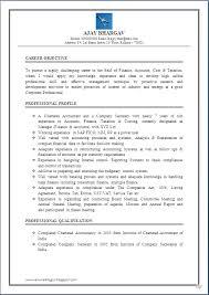 Sample Resume Of Accountant by Excellent Work Experience Chartered Accountant U0026 Company Secretary