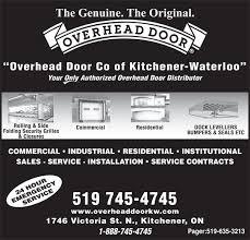 Overhead Door Hours Overhead Door Kitchener Chi Overhead Doors Model 5632a Steel