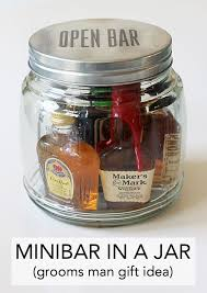 minibar in a jar an easy gift idea easy gifts gift and favors