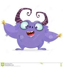 halloween cartoon clip art vector cartoon purple monster with big horns halloween furry