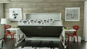 the horizontal computer desk with attractive modern hide away beds