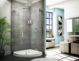 Curved Shower Doors Barn Door Style Exposed Roller Sliding Curved Shower Enclosure
