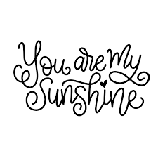 halloween svg free hand lettered you are my sunshine free svg cut file