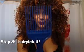 what type of hair is use for big box braids how to use an afro pick for big curly hair naturallycurly com