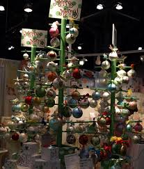 christmas ornament display pretty unique display using only