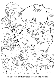coloring page dragon ball z coloring pages 58