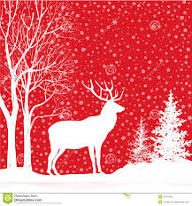 background snow winter landscape with deer merry chr