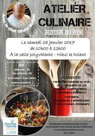 affiche atelier cuisine atelier culinaire avec olivier burban