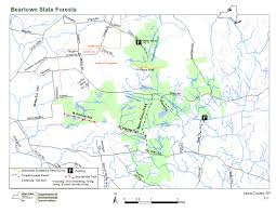 Ny State Road Map by Beartown State Forest Map Nys Dept Of Environmental Conservation