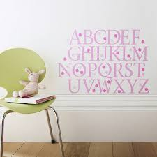 alphabet wall stickers pink polka alphabet wall stickers upper and lower case