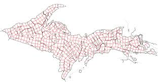 Michigan Township Map by Upper Peninsula Of Michigan Stays British Survey By Schreibstang