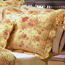 antique rose cotton floral quilt bedding set