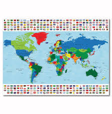 World Map With Flags World Map And World Flags