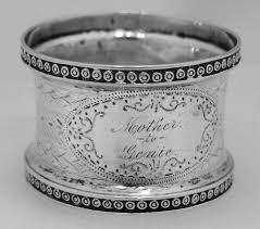 126 best napkin rings of images on silver napkin