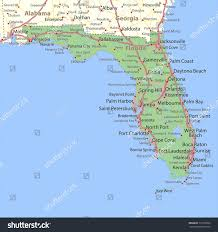 Cape Coral Fl Map Florida Map Shows State Borders Urban Stock Vector 779176906