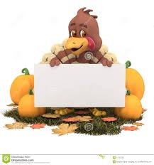 thanksgiving turkey videos cartoon thanksgiving turkey with blank sign royalty free stock