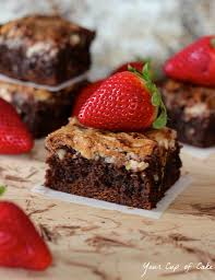 Ina Garten Brownies Strawberry Cream Cheese Brownies And Giveaway Your Cup Of Cake